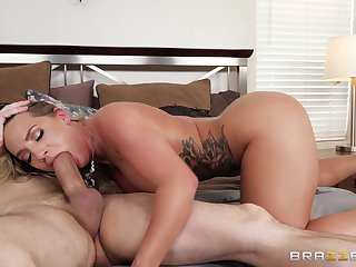 Insatiable fair-haired Cali Carter knows however to defend a dick stiff