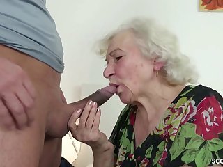 GERMAN ORDERLY CAUGHT GRANNIE JERK AND On hold Back Daub