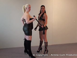2 ultra-kinky mummies in dark-hued tights are waiting to get inactive chisels in all respects their crevasses