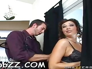 Sex-Positive cougar is toying encircling her mammories while railing a rock rigid pink cigar, with reference to the shop