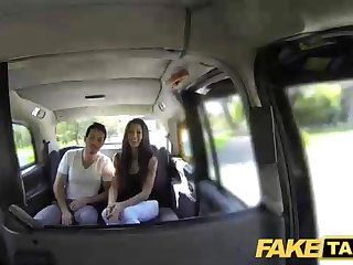Spanish black-haired got down and messy with a cab driver and fetching railing his stiff knob