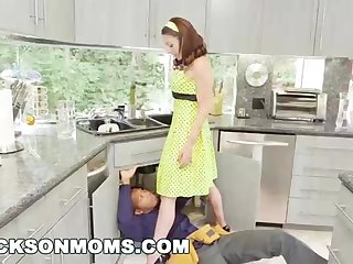 Fit to eat and a bit leave to twist slowly in the wind housewife is deepthroating 2 ebony fuck-sticks, while having an bi-racial three-way