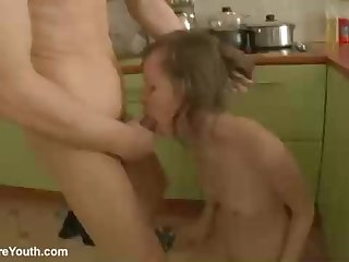 Petite jugged stunner, Demida is getting boned in the butt, in the kitchen, not later than the day