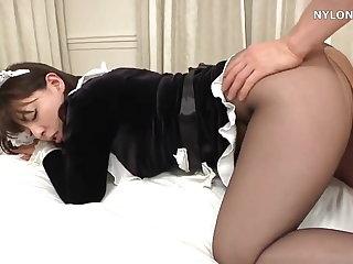 japanese pantyhose maid sex nylon roger