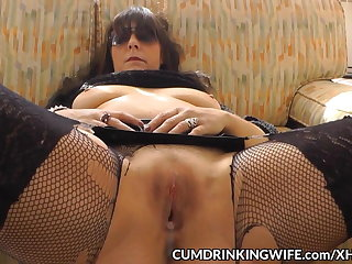 Slutwife creampied by copiousness of guys