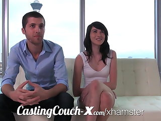Casting Couch-X Swaggering motor coach sweethearts rouse in porn