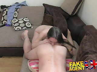 FakeAgentUK hurtful euro chick gets anal creampie on casting