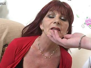Naughty grown up mam sucks your cock