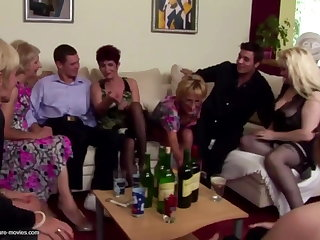 Pissing group sex with of age moms and young sons