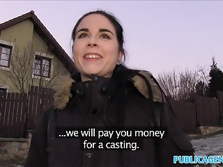 Public Agent Spanish Pupil fucks for party cash