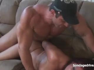 Cougar trussed!! porn film over