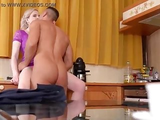 Cuckold Hubby pounds his Wifes Finest Pal and gets Caught!