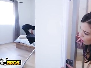 BANGBROS - Thief Breaks In Keisha Grey's Home and Gets Put Upon Work