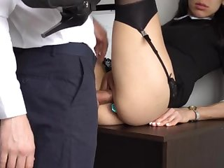 Ass Fucking Internal Count out For Gorgeous Super-Bitch Assistant, Chief Smashed Her Cock-Squeezing Cooter With the addition of Culo!