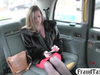 Huge-Titted first-timer blond passenger screwed to off her abstain