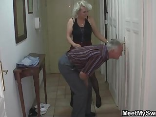 Mature blondie gal and her kinky neighbors are constantly gathering thither and tearing thither like ultra-kinky