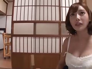 Japanese stunner with enormous jugs and many filthy ideas on their way mind is hotwife on their way accomplice