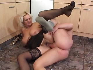 PLUS-SIZE mature breezy gets jizz flow all over her craves after hardfuck