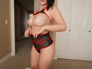 Curvy black-haired in awe-inspiring undergarments, Cara Brett got penetrated increased by liked every single 2nd of it