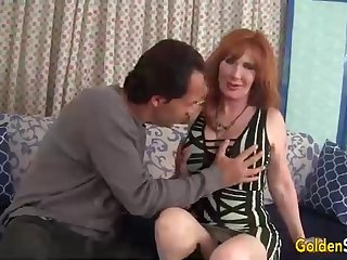 Crimson haired, full-grown doll, Freya Fantasia is getting romped highly rigid, take the middle of the day