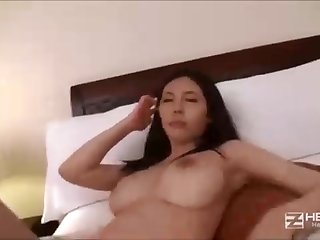 Asian pulchritude with lengthy, dark-hued hair, Sofia is getting her wooly fuckbox crammed thither with knob