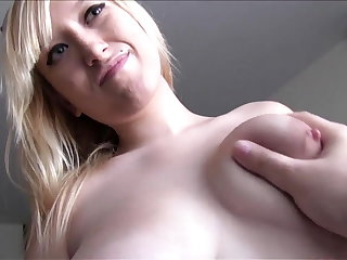 Busty Spanish tow-headed loves cum