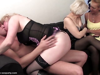 Mature mom and grannies fucked at the end of one's tether young toy urchin