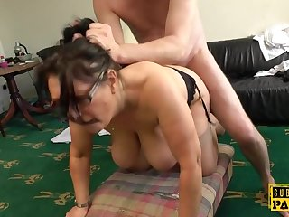 Shove around british MILF roughly fucked doggystyle