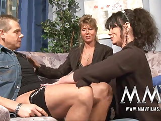 MMV Films Grown-up teacher having relaxation in all directions a couple