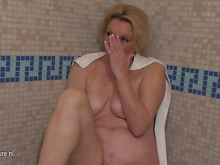 Naked grown-up women came to relax