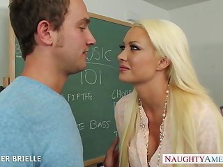 Blonde teacher Summer Brielle fuck in auditorium
